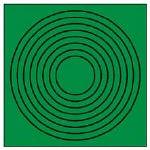 ユニット ゲージマーカー円形緑・PPステッカー・10枚組 3716473 44686