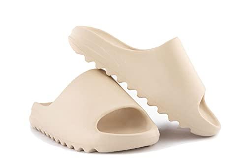 SM Unisex Slide Sandal Summer Slippers Non-Slip Soft Pool Slides, Indoor and Outdoor House Slides Slippers, Light Weight EVA Yee-zy Slides Shoes for Mens - Womens - Teenager, 11.5 Women10 Men, Nude