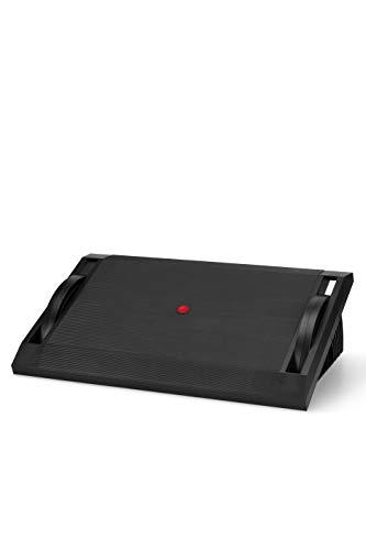 hjh OFFICE 830016 Fußablage PODI I Fußstütze Schreibtisch mit Wippfunktion, höhenverstellbar, ergonomisch, rutschfest