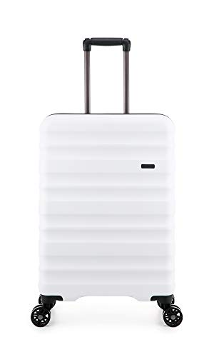 Antler Clifton, Durable & Expandable Lightweight Hard Shell Suitcase - Colour: White, Size: Medium