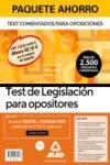 Paquete Ahorro Test de Legislación para opositores. Ahorra 69,10 € (incluye Test comentados para oposiciones de la Constitución Española; Test ... Sector Público y acceso gratis a Cursos Oro)