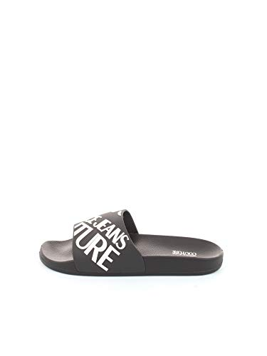 VERSACE JEANS COUTURE EOYVBSQ1 Zuecos Hommes Negro/Blanco - 45 - Chanclas