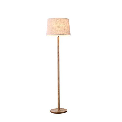 DROMEZ Lámpara de Pie LED Regulable, Madera Luz de Pie Lectura con Natural de Madera Grano, 5W Luz Cálido Bombilla, Luz Cuidado Ojos, Lámpara de Suelo Moderna para Sala de Estar, Dormitorio, Estudio