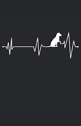 Labbi Herzfrequenz Hundeliebhaber Geschenk: Notizbuch   Notebook   Punktiert, DIN A5 (13.97x21.59 cm), 120 Seiten, creme-farbenes Papier, glänzendes Cover