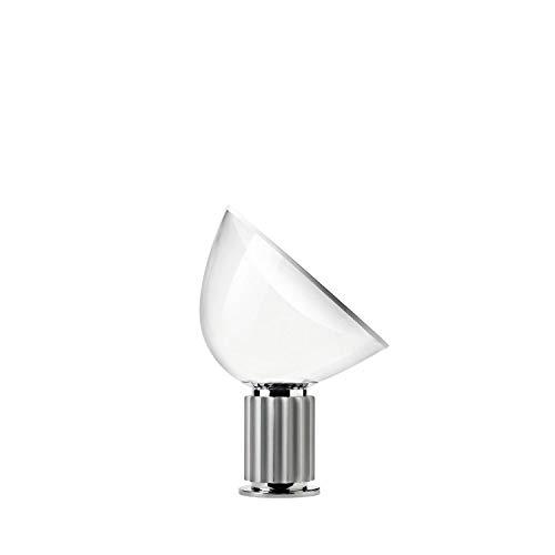 Flos TACCIA LED METACRILATO Tischlampe, PMMA, 28 W, Silber, 190 x 495 x 645 mm