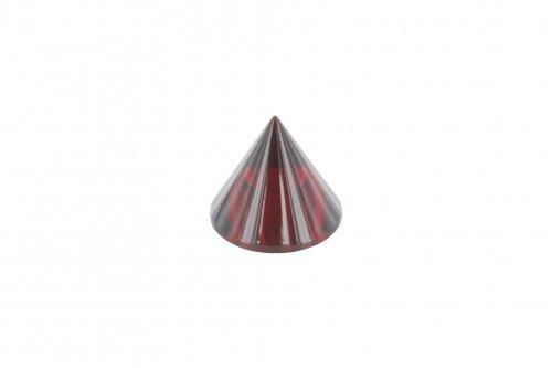 Glaskegel rot ø 35mm Höhe 30mm, mit Sackloch ø 12,3mm
