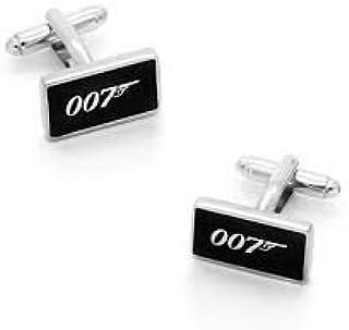 Le Jewelbox/® James Bond 007/Rectangle Noir Bureau Formelle de Mariage pour Homme Blazer Paire de Boutons de Manchettes pour Homme Coffret Cadeau