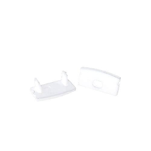 Surface de profilés en aluminium KL pour LED banc - 200 150 100 50 cm - avec couverture opale semi-claire ou blanc diffus transparent par Alumino®