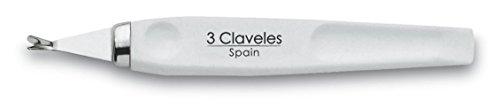 3 Claveles 12350 - Cortacutículas 10 cm blanco