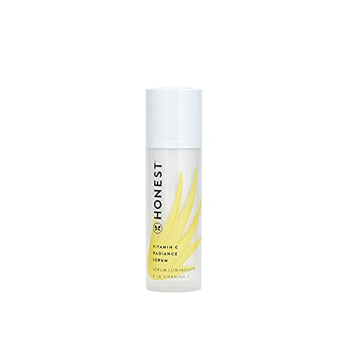 Honest Beauty Vitamin C Radiance Serum with Artichoke & Clover Extracts   Paraben Free, Dermatologist Tested, Cruelty Free   1.0 Fl. Oz
