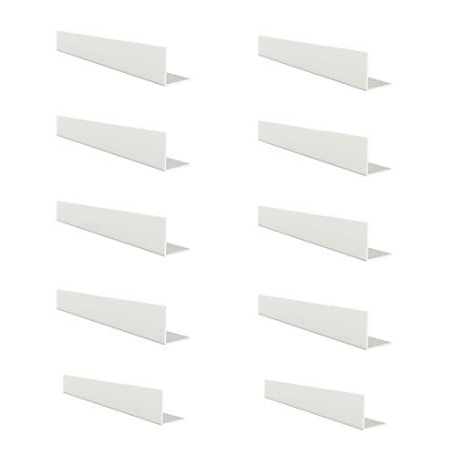 REI   10 Perfiles en L de Ángulo Lados Iguales en Aluminio   Fabricado en Metal en Acabado Blanco   Proyectos de Bricolaje   Medidas : 20x20mm   Longitud Perfil 1m   Espesor Pletina 2 mm
