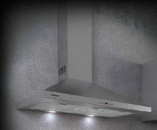 Dunstabzugshaube Spala, 90 Edelstahl, dekorativ, Pyramide, 740 M3, LED-Lichter (5 A)