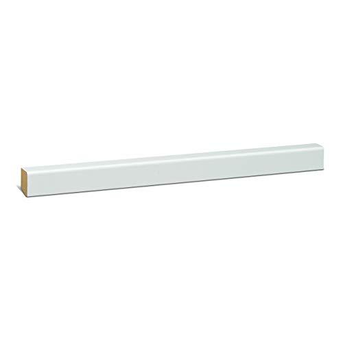 KGM Sockelleiste weiß 22mm | Modern Fussleiste weiss ✓MDF Leiste ✓für PVC Vinyl & Laminat ✓weiße Leisten |gerade Sockelleisten 16x22x2500mm