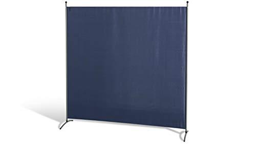GRASEKAMP Qualität seit 1972 Stellwand 180 x 180 cm Blau Paravent Raumteiler Trennwand Sichtschutz