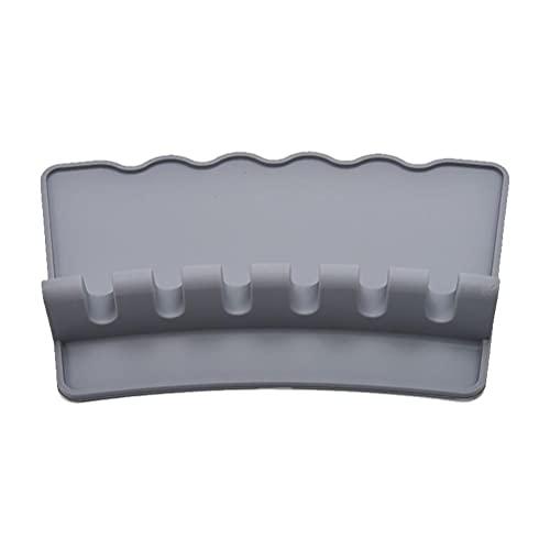 spier Soporte para utensilios de cocina, soporte para cucharas de silicona resistente al calor, con cojín de goteo, soporte para cucharas, cucharas, pinzas y espátulas