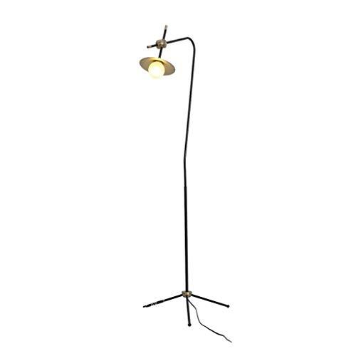 YANGQING Lámpara de pie de luz Postmodern Retro Industrial Pantalla de vidrio Trípode Lámpara de pie moderna sala de estar dormitorio cuidado ojos luz de pie