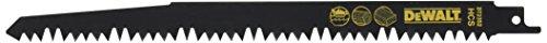 Dewalt DT2352-QZ DT2352-QZ-Hoja de sierra sable HCS, longitud: 240mm, paso de diente: 5-6,5mm, para cortes gruesos y rápidos en madera (tronco y poda), 0 W, 0 V