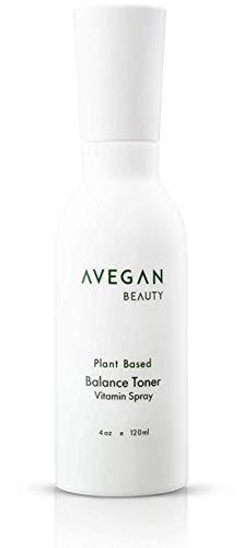 AVegan Beauty Plant Based Balance Toner Vitamin Spray, Moisturizing, pH Balancing Toner for Face and Body