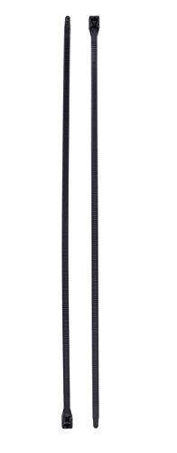 Gardner Bender 46-206UVB Doublelock Cable Tie, 6 Inch., Tensile Strength, Wire / Cord Management Industrial and Household Use, Nylon Zip Tie, 100 Pk., UV Resistant Black