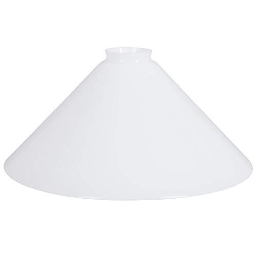 Schusterschirm Ø 300mm weiß Ersatzglas Lampenglas Lampenschirm E27 Glasschirm rund Vestaschirm