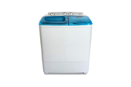 Croma 6.5 kg Semi Automatic Top Load Washing Machine (CRAW2221, White)
