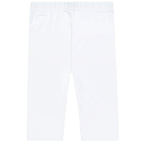 Staccato Mädchen Capri Leggings | Basic elastisch hautfreundlich | Größe: 104/110 Farbe: White