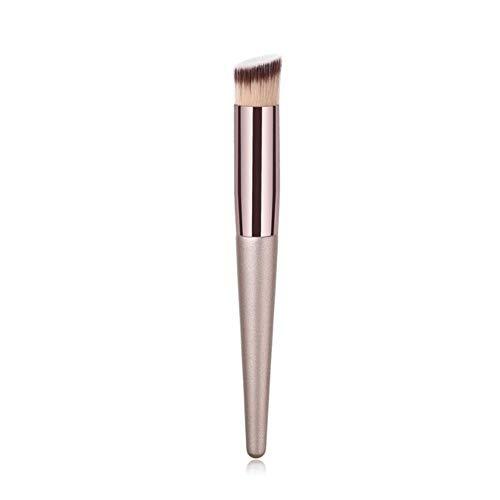 QWK Foundation Pinceau effilé Visage Crayon à Sourcils Ombre à paupières Brosse cosmétique Maquillage Pinceau Outil, Pinceau coudé