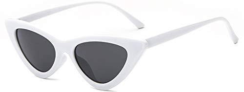 JFan Mujer Gafas Gato Ojos Polarizado Gafas de Sol Polarized Retro Moda Estilo Vintage Gafas para Mujer Uv400 Gafas de Sol(Negro Negro)