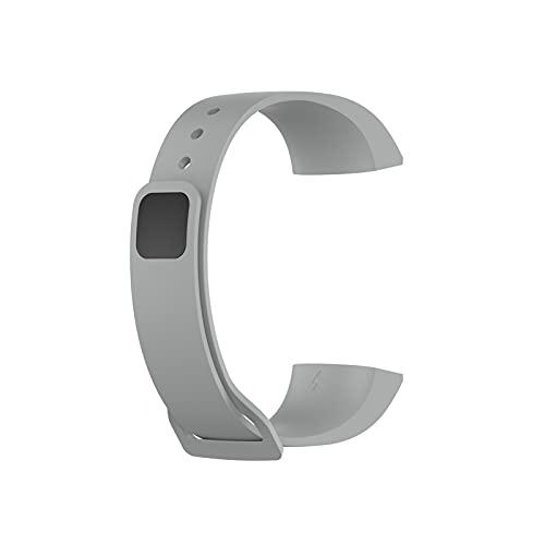 FFF8 Correa de muñeca de Silicona para Xiaomi MI Banda 4C Reloj de reemplazo Sport Sport Soft Correa para la Banda de Redmi Pulsera Inteligente para la Banda MI (Color : Gray)