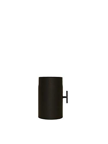 LANZZAS Rauchrohr Ofenrohr Kaminrohr Verlängerung 250 mm mit Drosselklappe Ø 200 mm schwarz