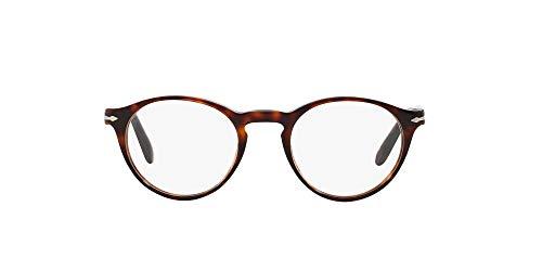 Persol, PO3092V, occhiali con montatura rotonda in acetato, da uomo Tortoise 50