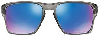 528485892110a Oakley SLIVER XL OO9341L 03 Cinza Fosco Translúcido Lente Polarizada Azul  Safira Iridium Tam 57