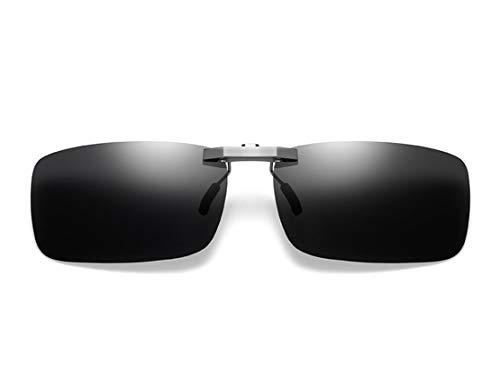 DAUCO Polarisierte Sonnenbrille Clip Nachtfahrbrille Clip Nachtsicht-Blaulichtfilter photochromes Fahren und Freien und Sport und Computer brillen clip Blendschutz UV-Schutz