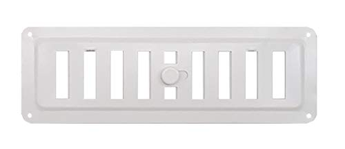 HVAC Adjusted Metal Air Vent in White RAL9016, Regulated Ventilation Grille White, Open - Close Metal Ventilation Grille. (8.9'' x 3'' (225 x 75 mm))