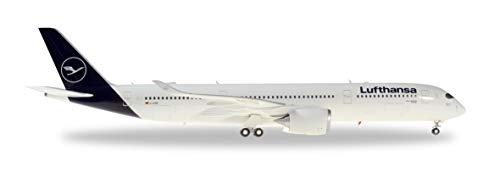 herpa 559577 – Airbus A350-900, Lufthansa Passagierflugzeug, Wings, Flieger, Modell Flugzeug, Modellbau, Miniaturmodelle, Sammlerstück, Kunststoff - Maßstab 1:200
