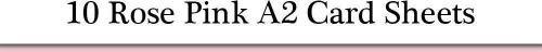 10rosa rosa A2tarjeta de hojas para manualidades | tarjeta de colores para manualidades