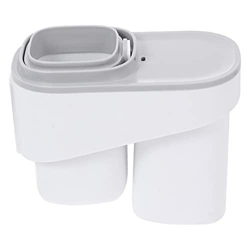 DOITOOL Soporte de pasta de dientes de viaje para cepillo de dientes portátil para cepillo de dientes de pared, soporte para colgar en el cuarto de baño (blanco)