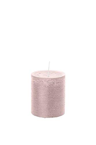 durchgefärbte Stumpenkerzen (H x Ø) 130 x 68 mm, Farbe Rosé, mit ASF zum Abbrandschutz, Wiedemann Marble Kerzen, Advent, Adventskranz, Weihnachten, Dekoration, Event