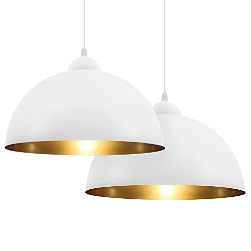 B.K.Licht Set de lámparas de techo colgantes para interiores, requieren bombilla E27 LED, max. 60 W, 230 V, índice de...