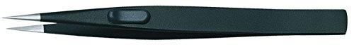 Gedore 722-1 Präzisionspinzette, flach, blendfrei mattiert, ESD-fähig, schwarz