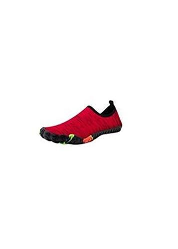 Whyeasy Bluestercool Chaussures d'eau Unisexes à Couple Séchage Rapide Printemps Été Piscine Plage Nager Plongée Shoes Chaussures Aquatiques(Rouge,38)