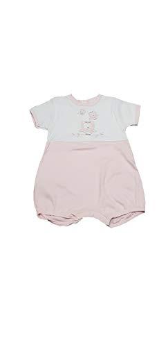 Pijama y conjunto corto para niño y niña, de verano, de algodón, de punto, para recién nacido y bebé, varios modelos Wbe77 79 Rosa E Blanco 9 Meses