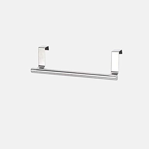 Toalleros de 2 tamaños sobre la puerta del gabinete de cocina Toallero Bar Soporte para colgar Estante de baño Estante Organizador para el hogar Gancho de pared largo-23.5cm