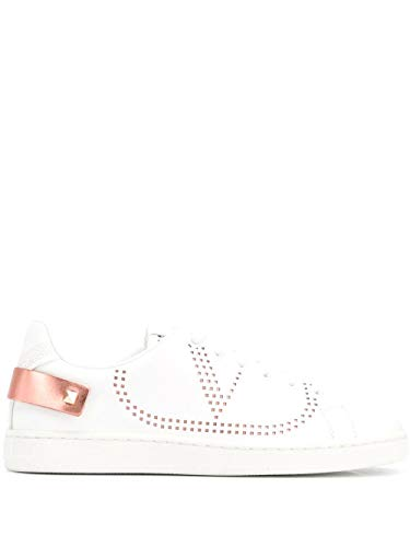 Luxury Fashion | Valentino Garavani Dames TW2S0M20FKZ0W0 Wit Leer Sneakers | Lente-zomer 20