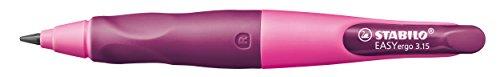 Stabilo Easy Ergo 3.15 – Portaminas recargable para diestros, color rosa y violeta