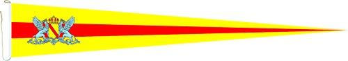 Haute Qualité pour U24 Long Fanion Drapeau Grand-Duché de Bade 250 x 40 cm