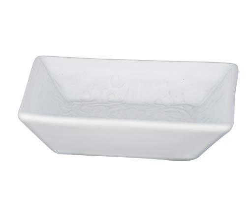Wenko Seifenschale Cordoba, hochwertige Seifenablage aus Keramik mit spanisch-maurischen Ornamenten, geeignet für Badezimmer und Küche, Maße: 2.5 x 10.5 x 10.5 cm, Weiß