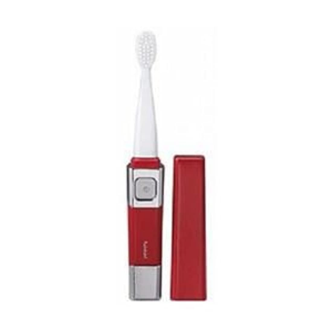 再発するショッキングペア(まとめ)ツインバード 音波振動歯ブラシ レッド BD-2755R【×3セット】