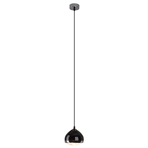 Brilliant AG 04370/06 Brilliant Suspension fil Rider 1 x E14, Verre, 25 W, Noir
