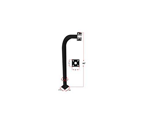 L.A. Ornamental Goose Neck Keypad Stand Intercom Holder Telephone Entry Pedestal Gate Pillar Curve Post Offset Key Pad Stand